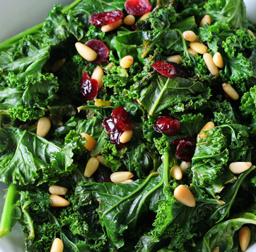 Sautéed Kale with Pine Nuts and Dried Cranberries | Organic Toronto ...